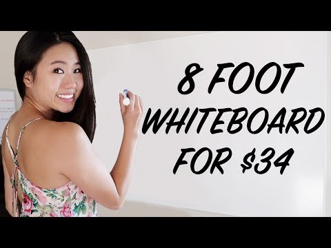$34 DIY Giant Whiteboard Hack | How To Make A Custom Dry Erase Board On A Budget