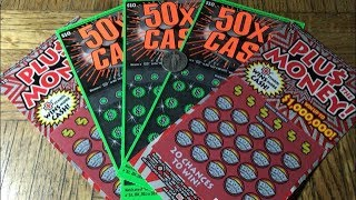 $50 Batch Of 50X THE CASH & PLUS THE MONEY California Lottery Scratcher Tickets