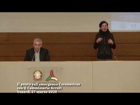 EMERGENZA CORONAVIRUS DIPARTIMENTO PROTEZIONE CIVILE VENERDI' 27 MARZO OLTRE 9000 MORTI IN ITALIA