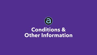 Conditions and Other Information