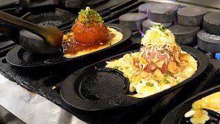 private mini grill egg cheese hamburger steak – korean street food
