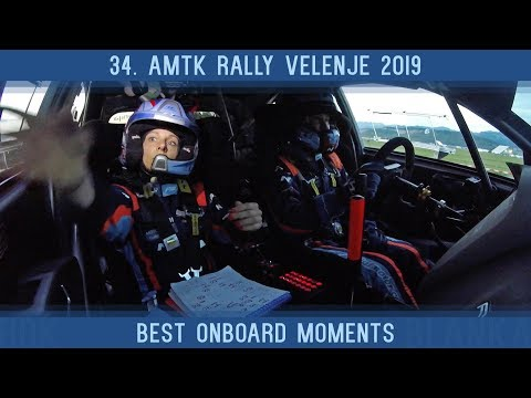 34. AMTK rally Velenje 2019 | Best onboard moments | Rok Turk - Blanka Kacin (Hyundai i20 R5)