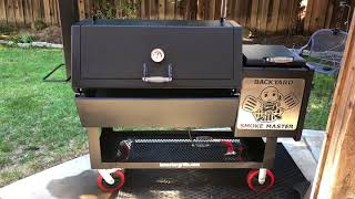 How To Season a Lone Star Grillz 20 inch Offset Smoker - hlub video