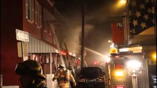 preview picture of video 'Fatal fire scene on E. Madison St. in Lancaster [raw video]'
