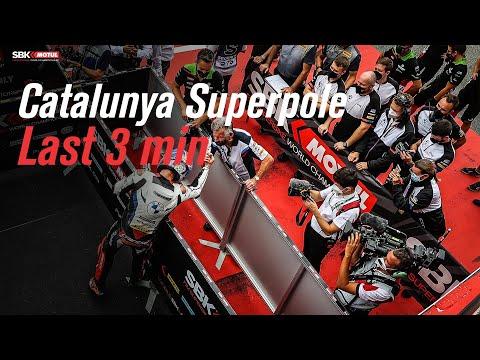 スーパーバイク世界選手権 SBK 第9戦スペイン(カタロニア・サーキット)スーパーポールのラスト3分間のダイジェスト動画