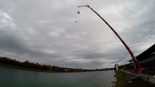 preview picture of video 'Bungee Jumping on a windy day | GoPro HERO3+ Black Edition'
