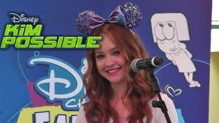 Cast Of Kim Possible (2019) Drawing Big City Greens Characters - Disney Channel Fan Fest - DCA