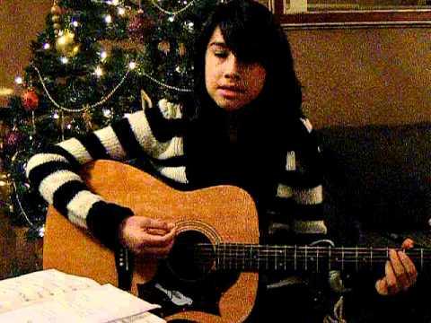 Grace Mark chording guitar & singing  Silent Night