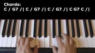 Soft Kitty (Warm Kitty) [Easy piano tutorial for beginners]