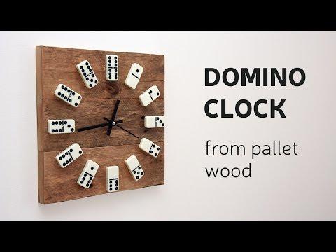 Domino-Wanduhr aus Palettenholz - Die Uhr für Spielefans