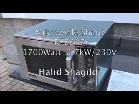 Tips Gastro Mikrowelle Sharp R-2287, worauf man achten sollte! Halid Shagildi