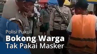 Beredar Video Polisi di Maluku Pukuli Bokong Warga Tak Pakai Masker dengan Rotan, Mirip di India