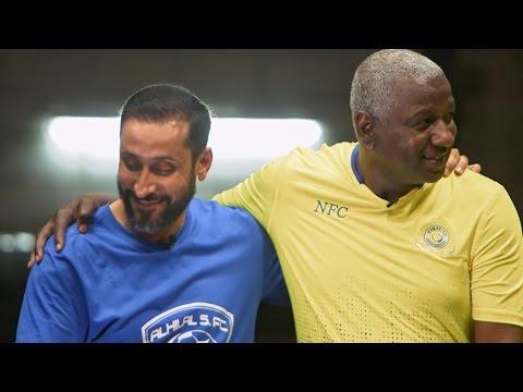 فيديو رائع للروح الرياضية بين ماجد عبدالله و سامي