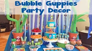 Bubble Guppies Under The Sea Party Decor | #48