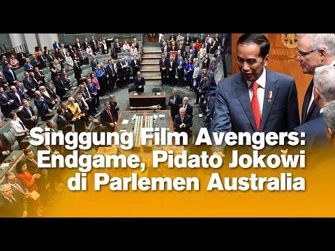 [FULL] | Singgung Film Avengers: Endgame, Pidato Jokowi di Parlemen Australia