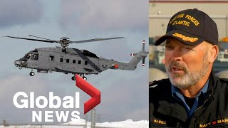 Canadian Armed Forces officials provide update on military helicopter crash and search operation