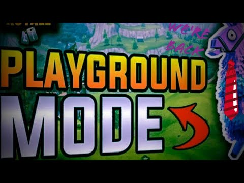 We're back and playing playground mode