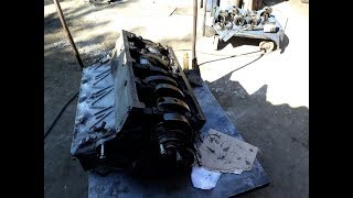 Сборка двигателя Камаз началась, мойка блока, поставили гильзы и коленвал! Часть1.