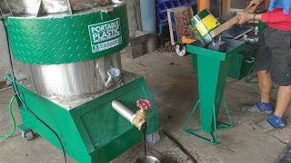 (Operation Manual) Plastic Melter  Densifier (Waste Plastic Recycling Into Bricks Etc)