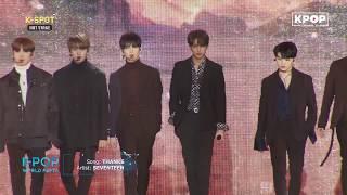 《HOT》 SEVENTEEN - THANKS at K-Pop World Festa #PyeongChang2018   Kholo.pk