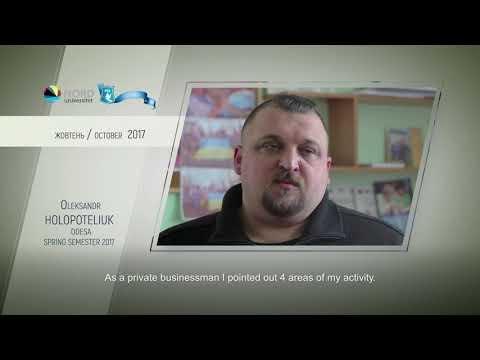 Video feedback of Oleksandr Holopoteliuk, graduate of the Ukraine-Norway project