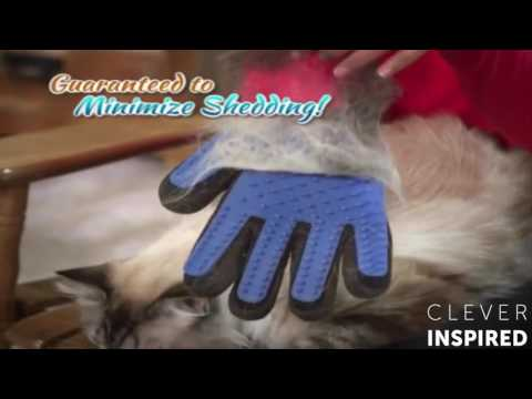True Touch Deshedding Glove Brush For Dogs And Cat - Dog Cleaner Gloves