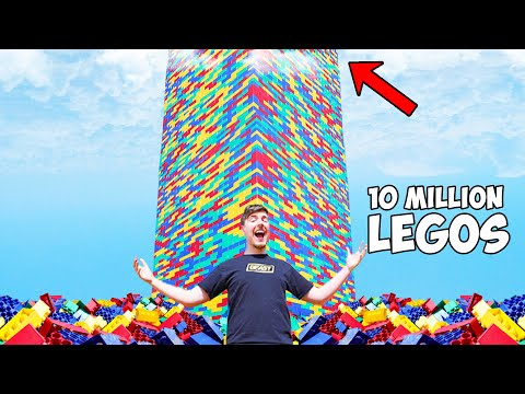 Dude builds the worlds largest lego tower
