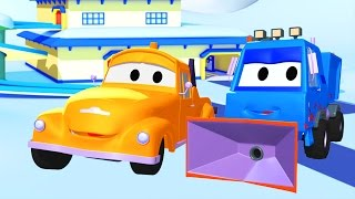 Эвакуатор Том и Снегоуборочная машина в Автомобильный Город  Мультфильм для детей