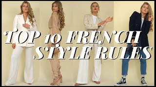 TOP 10 MODEREGELN | ✨how To Be Elegant, Parisian Chic & Slow Fashion✨[French Style Guide]