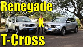 Comparativo: Renegade Limited x T-Cross Highline