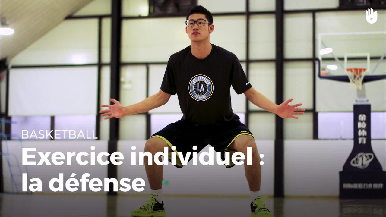 Exercice individuel : la défense - Débuter et progresser au basket | Sikana