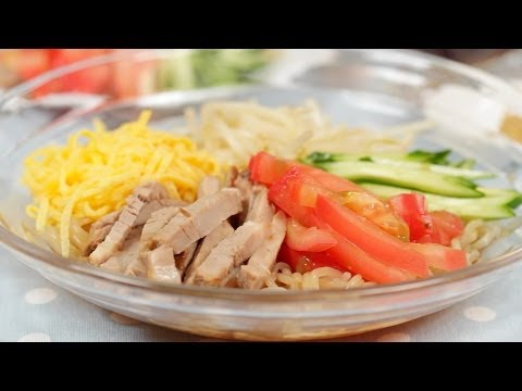 How to Make Low Calorie Hiyashi Chuka with Shirataki Noodles   Cooking with Dog