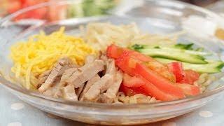 How to Make Low Calorie Hiyashi Chuka with Shirataki Noodles | Cooking with Dog