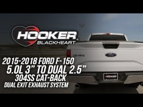 2015-2018 Ford F-150 5.0L - Hooker Blackheart Cat-Back Exhaust System 70503445-RHKR