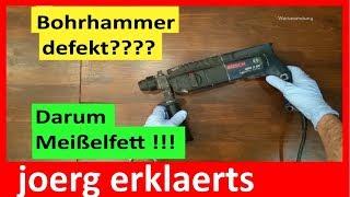 Bohrhammer defekt ..durch Wartung sich davor schützen Tutorial Nr . 170