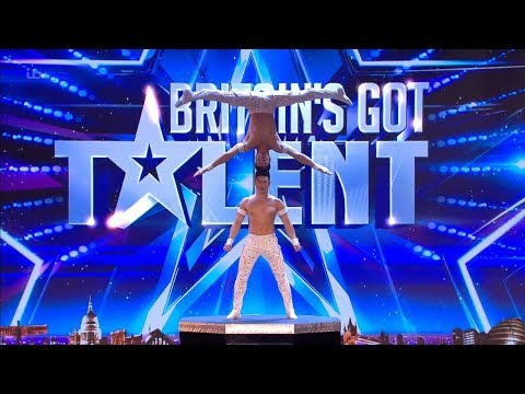 Britains Got Talent 2018 Giang Brothers Masterful Balancing Act Full Audition S12E02