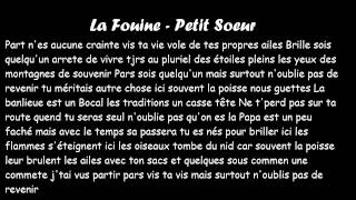 La Fouine   Petite Soeur PAROLES