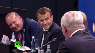 «Бандит, украл у меня!»: Путин о словах Шохина на встрече с Макроном