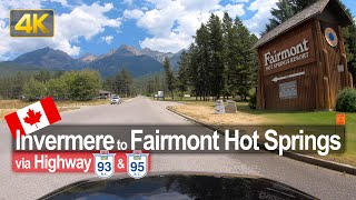 Driving from Invermere to Fairmont Hot Springs in BC 🇨🇦