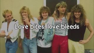 Def Leppard - Love Bites [Lyrics] HD