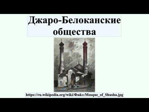 Джаро-Белоканские общества