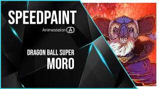 MORO | Dragon Ball Super Manga | ANIME SPEEDPAINT