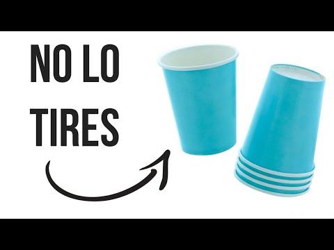No tires esto -  Manualidades con Vasos Desechables