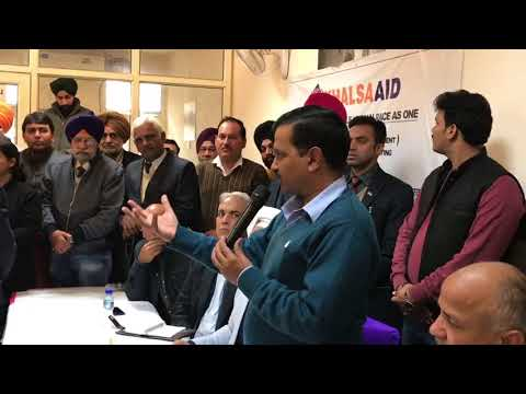 CM Arvind Kejriwal attend a Mohalla Sabha Meeting to decide about Liquor Shops in Tilak Nagar Area