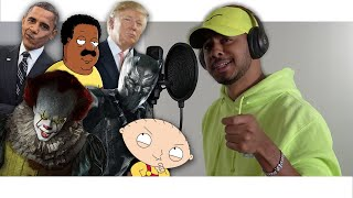Rap Songs in Voice Impressions! (2019) Pennywise, Black Panther, Stewie Griffin + MORE!