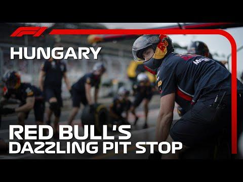 超速い!レッドブルホンダチームのピット作業 F1第11戦ハンガリーGP