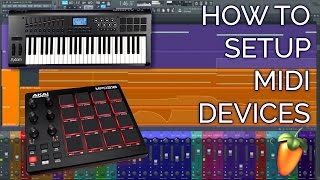 How To Setup A MIDI Controller (Keyboard or Drumpad) FL STUDIO 12 Basics