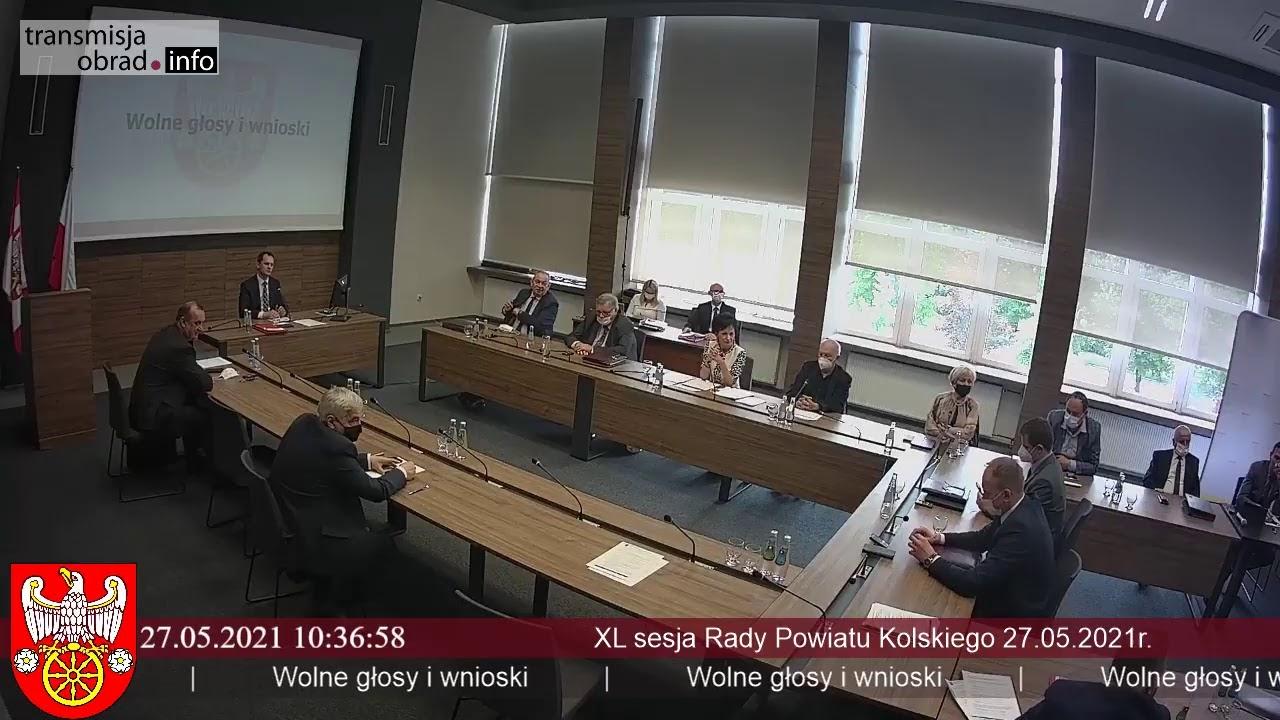 Zdjęcie do XL sesja Rady Powiatu Kolskiego