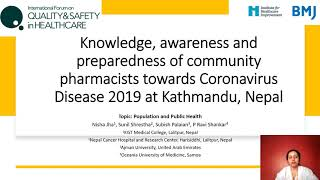 Knowledge, awareness and preparedness of community pharmacists towards Coronavirus Disease