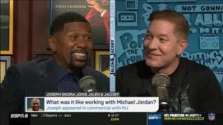 Jalen & Joseph Sikora DEBATE: What was it like working with Michael Jordan?   Jalen & Jacoby 10/30